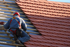 mason tile roof installation